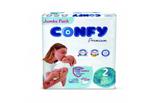 Бебешки пелени Confy baby размер 2 Mini (3-6 кг), 80 бр.