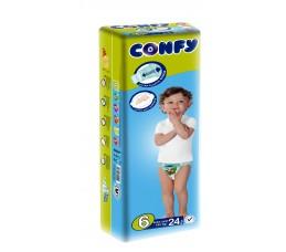 Бебешки пелени Confy baby размер 6 Extra Large (16 - 30 кг), 24 бр.