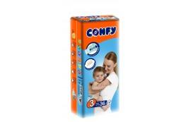 Бебешки пелени Confy baby размер 3 Midi (4-9 кг), 36 бр.