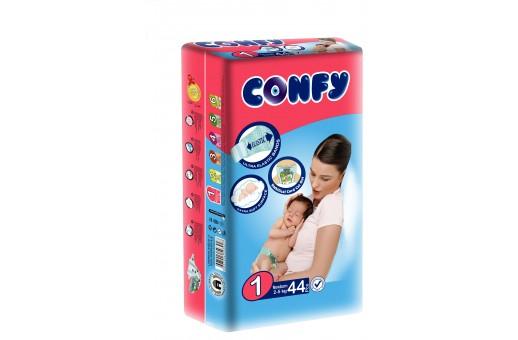 Бебешки пелени Confy baby размер 1 Newborn (2-5 кг), 44 бр.