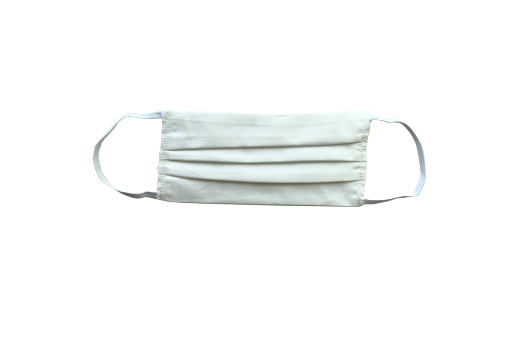 Маска за многократна употреба от бял плат