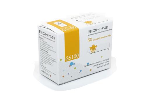 Тест-ленти за кръвната захар за глюкомер Bionime GM100 (50 бр. в оп.)