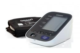 Автоматичен апарат за измерване на кръвно налягане Omron модел M6 AC със светлинно предупреждение за високо кръвно налягане